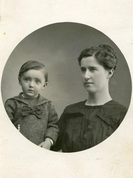 Käthe Maroscher and Gustav her son (my dad) , 1920.