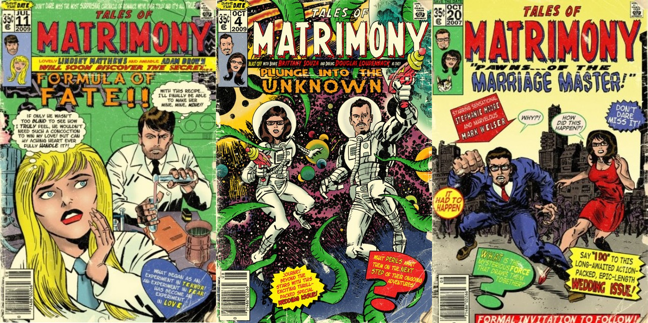 Comic Book Wedding Invitations  The Mary Sue