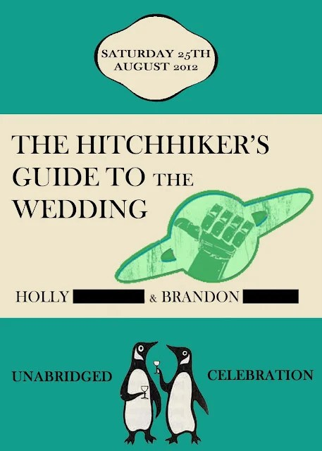 The Hitchhiker S Guide To Galaxy Themed Wedding Invitation
