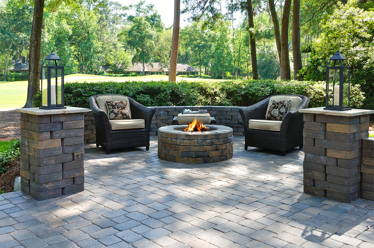 Paver Walkways Patios and Firepits  The Masters Lawn Care