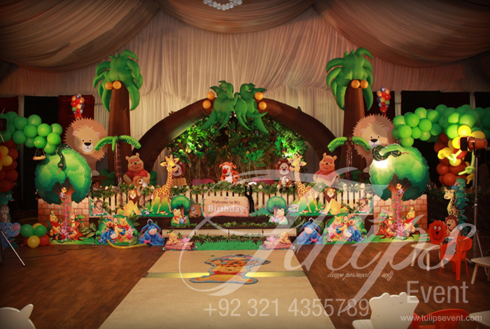 Jungle Themed Party TulipsEvent