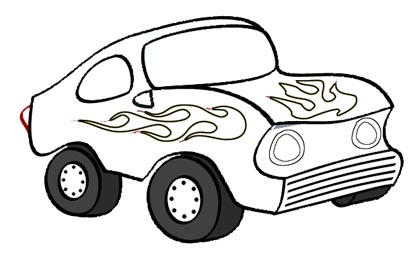 Auto Malvorlage - PKW Ausmalbild kostenlos