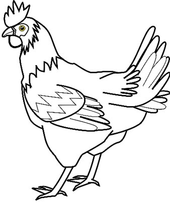 Huhn Malvorlage - Hühner Ausmalbild
