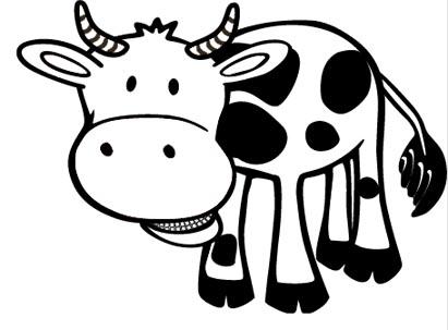 Kuh Malvorlage - kostenses Malbild