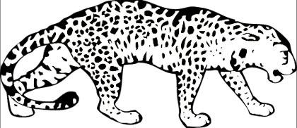 Leopard Malvorlage - kostenloses Ausmalbild