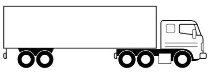 LKW Malvorlage - kostenloses Ausmalbild zum Ausdrucken