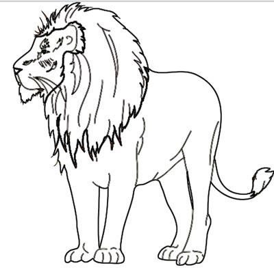Löwe Ausmalbild zum Malen und Zeichnen