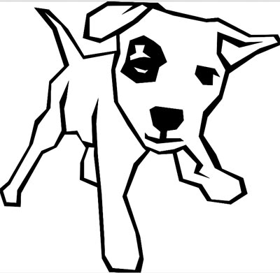 Lustige Hund Malvorlage - witziger Hund