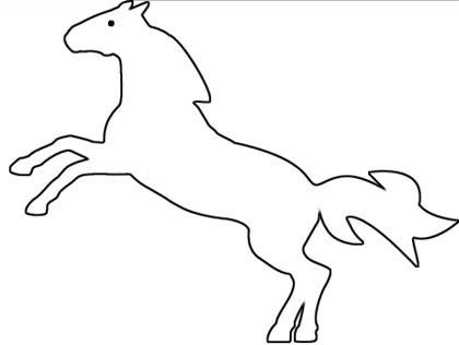 Wildes Pferd Malvorlage - kostenloses Ausmalbild