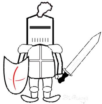 Ritter Malvorlage - lustiges Ausmalbild