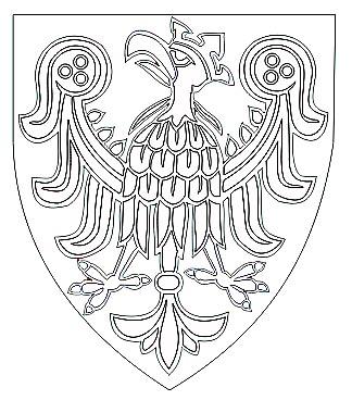 Wappen mit einem Adler als Malvorlage