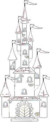 Schloss Malvorlage - kostenlose Malbild