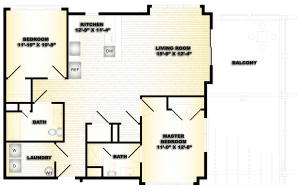 2 Bed / 2 Bath / 1,040 sq ft / Deposit: $750 / Availability: Please Call