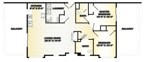 2 Bed / 2 Bath / 999 sq ft / Deposit: $750 / Availability: Please Call