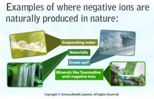 sleeping well negative ions