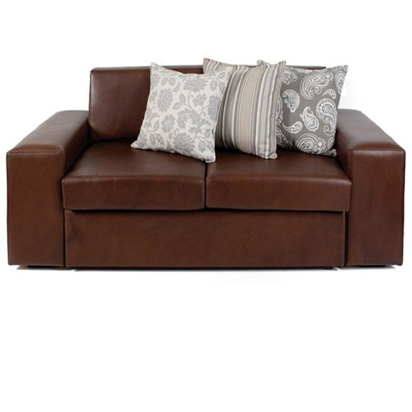 Ghia Leather Sleeper Couch - Queen