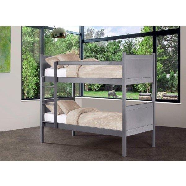 Kyle Panel Bunk Bed (Graphite)