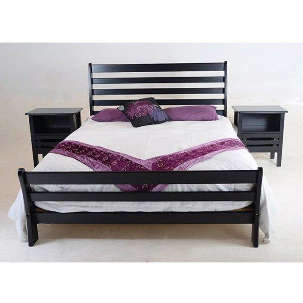 Magaliesberg Sleigh Bed (Mahogany) - King Bed