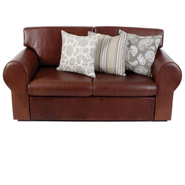 Montrial Leather Sleeper Couch - Queen
