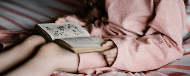 avoid digital screens before bed, rather read a book