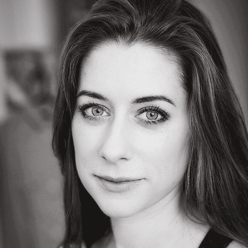 Black and white headshot of The Maydays Rhiannon Vivian.