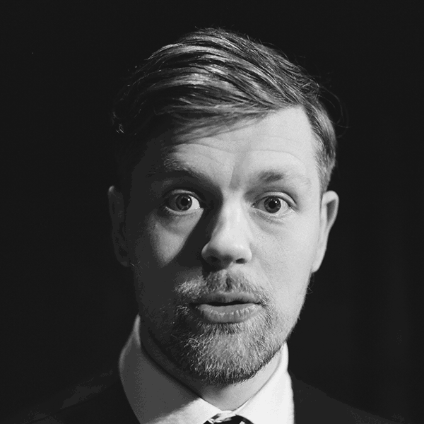 Black and white headshot of The Maydays Chris Mead