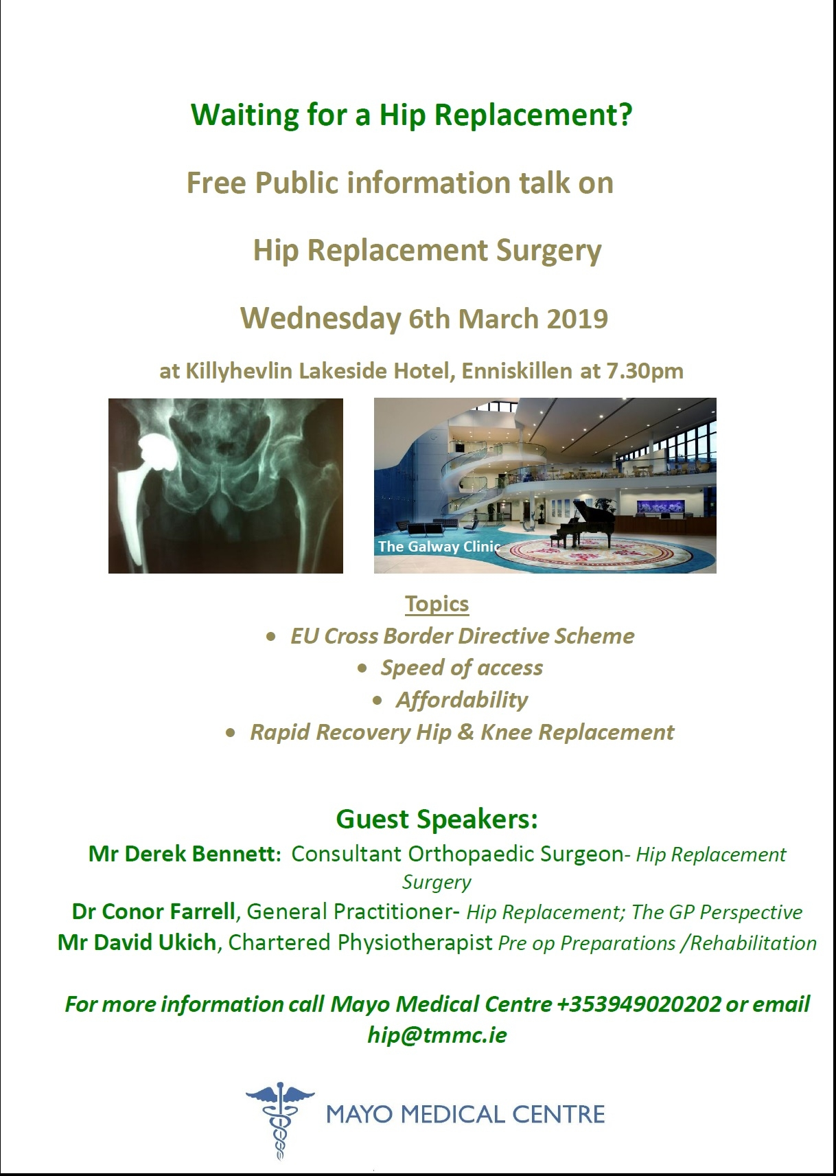 Dates for your diary - Mayo Medical Centre