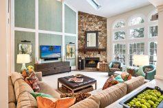 Designer Living Room - McMullin Design Group
