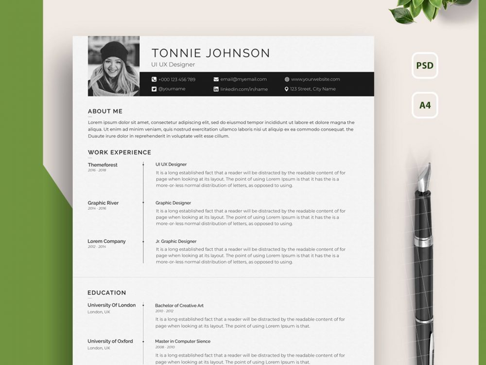 Acting resume template one page resume template resume design template simple resume template creative resume templates creative cv cv simple architect resume cv. 30 Best Free Resume Cv Templates For Word Psd Theme Junkie