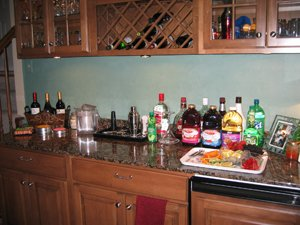 Home Bar  Set Up For Parties