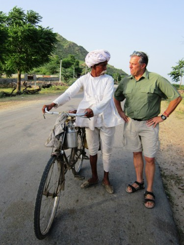 Another time, another place, I might have rented a bike and gone along on his rounds with him.