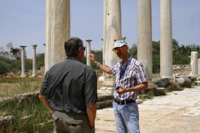 With our new friend Marios Georgiou at Salumis ruins, which date to 11th century BC