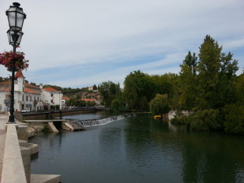 Clear river waters dissect the gorgeous town of Tomar in northern Portugal, near where we're spending the next week.