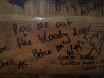 """Roll me out the bloody door."" Well said, Peter"