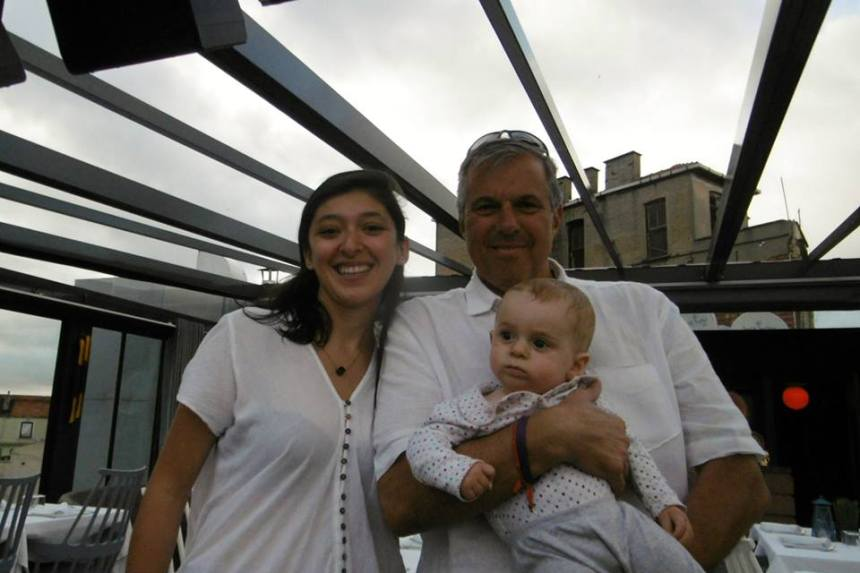 Muge Ertilav joins me and my grandson Lasky at a rooftop bar in Istanbul in June.