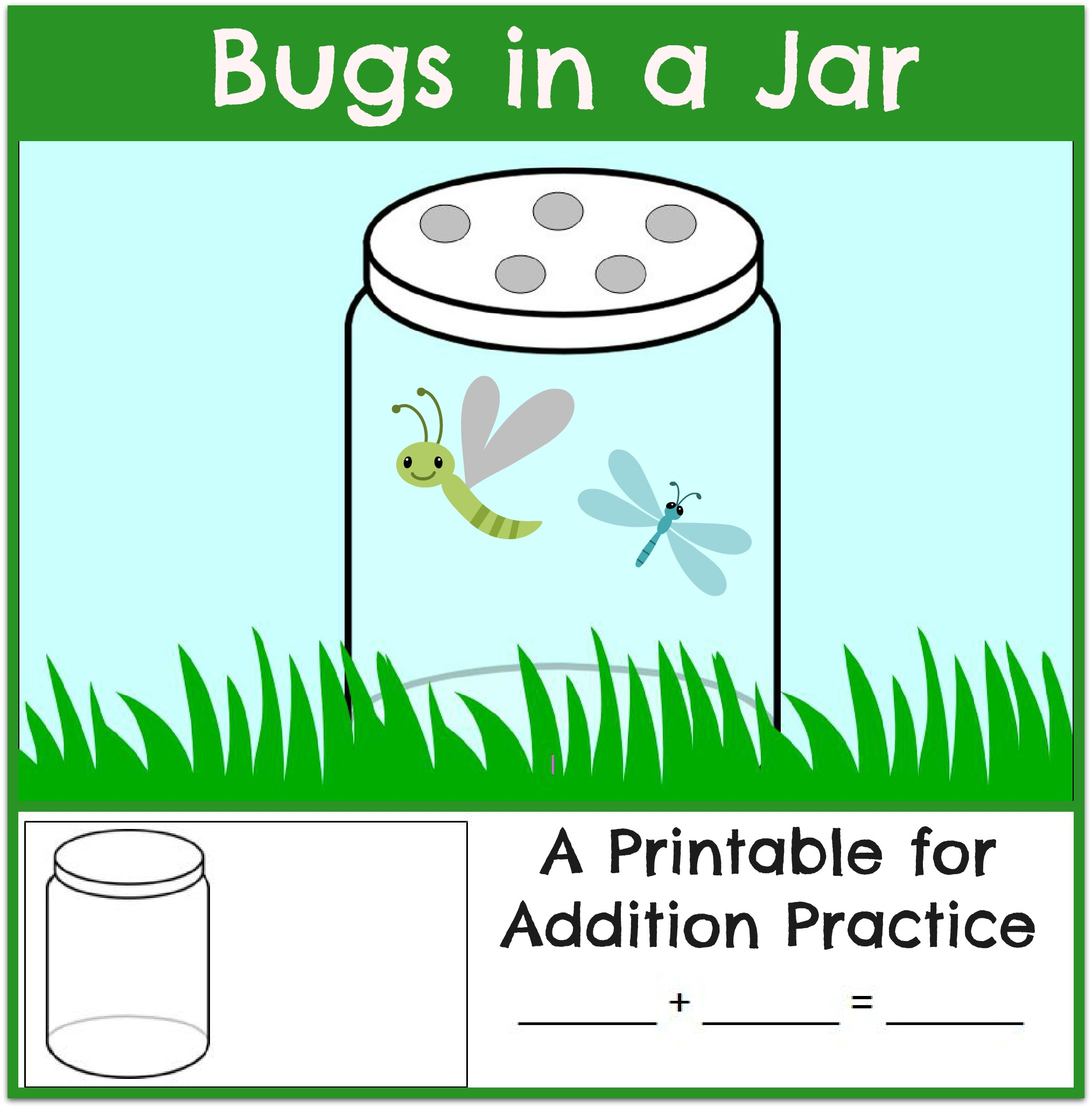 Bug Math Worksheet