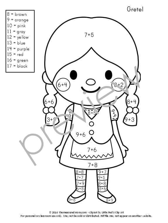 addition doubles coloring pages