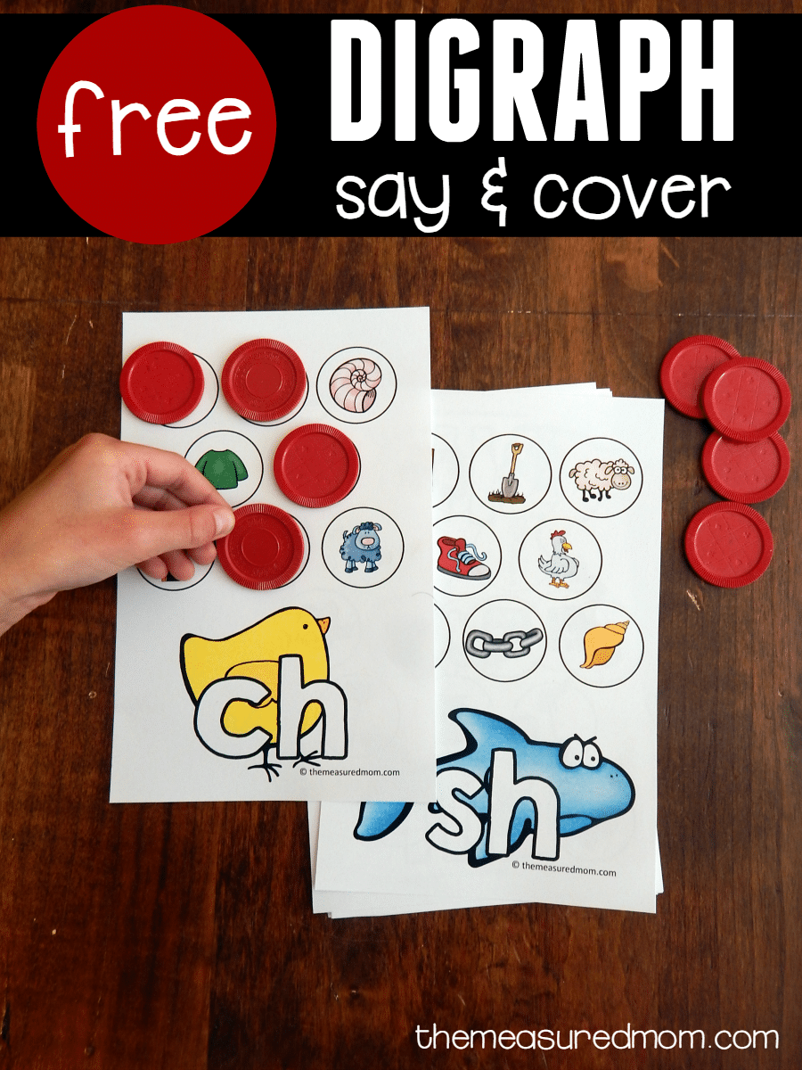 Free activity to teach the sounds of consonant digraphs  The Measured Mom