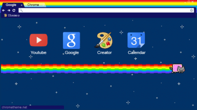 nyan cat chrome themes