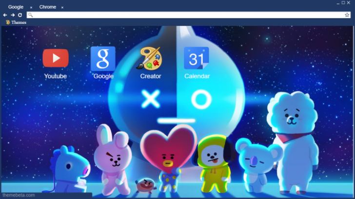 Cute Background Wallpaper For Computer Bt21 Chrome Theme Themebeta