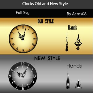 old and new style clock by acros08