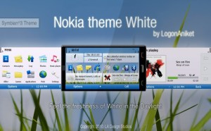 white nokia theme