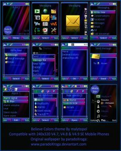 free sony ericsson theme believe colors