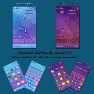 abstract pink and purple s^3 theme