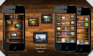 apple iphone theme memories by webby
