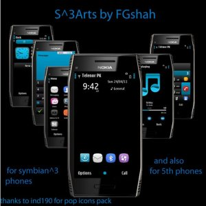 S3 art s60v5 mobile theme by Fgshah