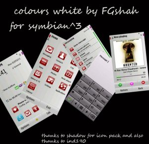 white color symbian theme for nokia by fgshah