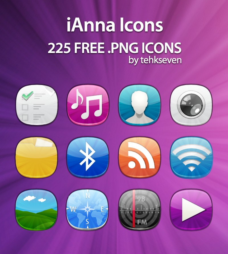 ianna icons by tehkseven