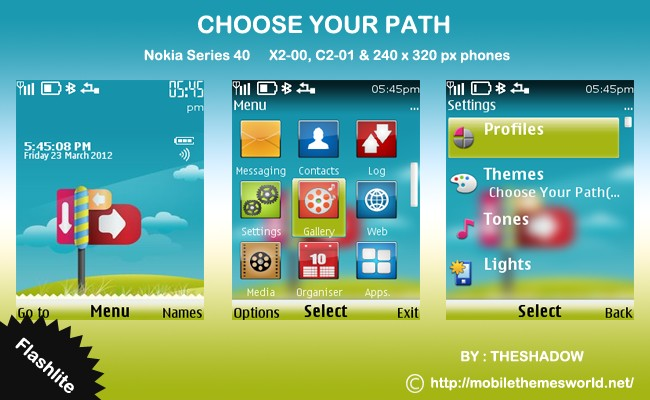 Choose Your Path Theme for nokia c2-01, x2 by TheShadow