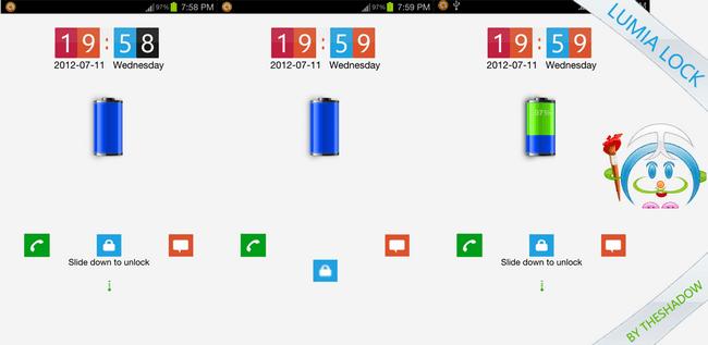 Lumia Lock Theme Go Locker for Android phones